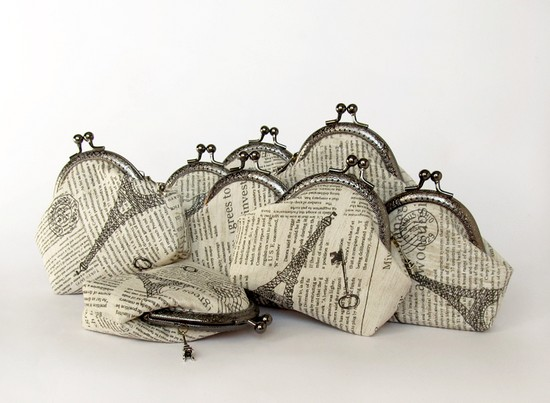 Newspaper purses, кошельки