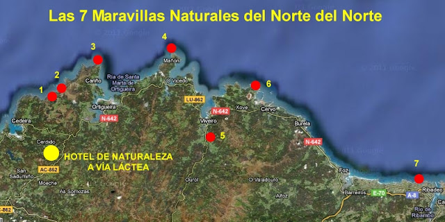 descubre la ruta de las 7 maravillas del Norte del Norte escapadas tema´ticas Hotel A vía Láctea