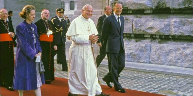 Reina Fabiola, Juan Pablo II y Balduino