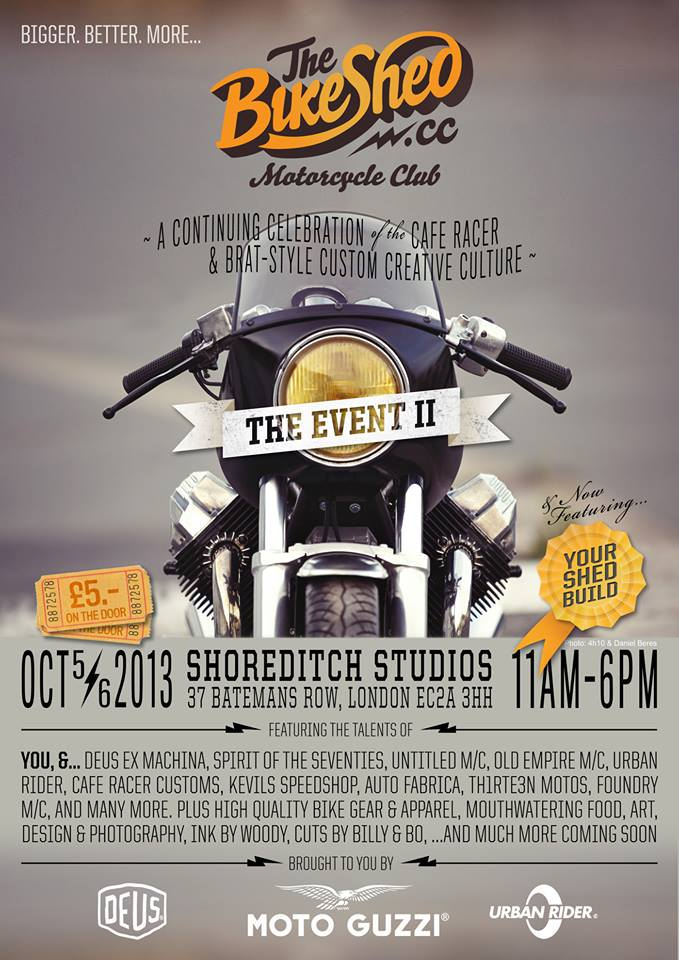 The Bike Shed Event is back in time, make yourself available for the event if your a motorcycle enthusiast, Well You can hear it on the own words from the guys at Bike Shed