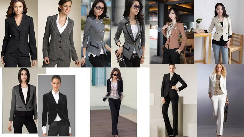 odel baju kerja wanita dengan celana blazer dipadukan dengan kaos
