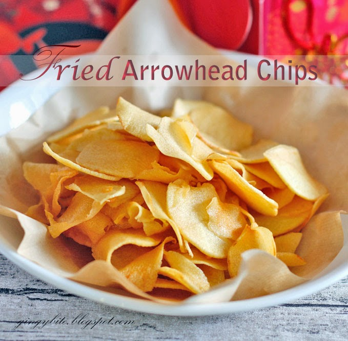 Fried Arrowhead Chips / Ngaku / Ciku 香脆茨菇