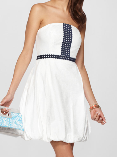 Lily Pulitzer Regency Bubble white dress