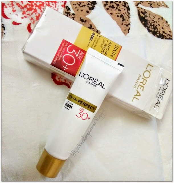 Loreal Paris SKIN PERFECT Anti Fine Lines + Whitening Cream 30+ Review