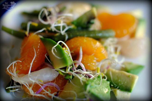 Ensalada exotica de brotes, liches y mandarina tererecetas 03