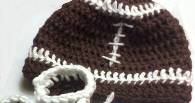 Free Crochet Hat Patterns Nz : Earning-My-Cape: Newborn Football Hat and Booties Set ...