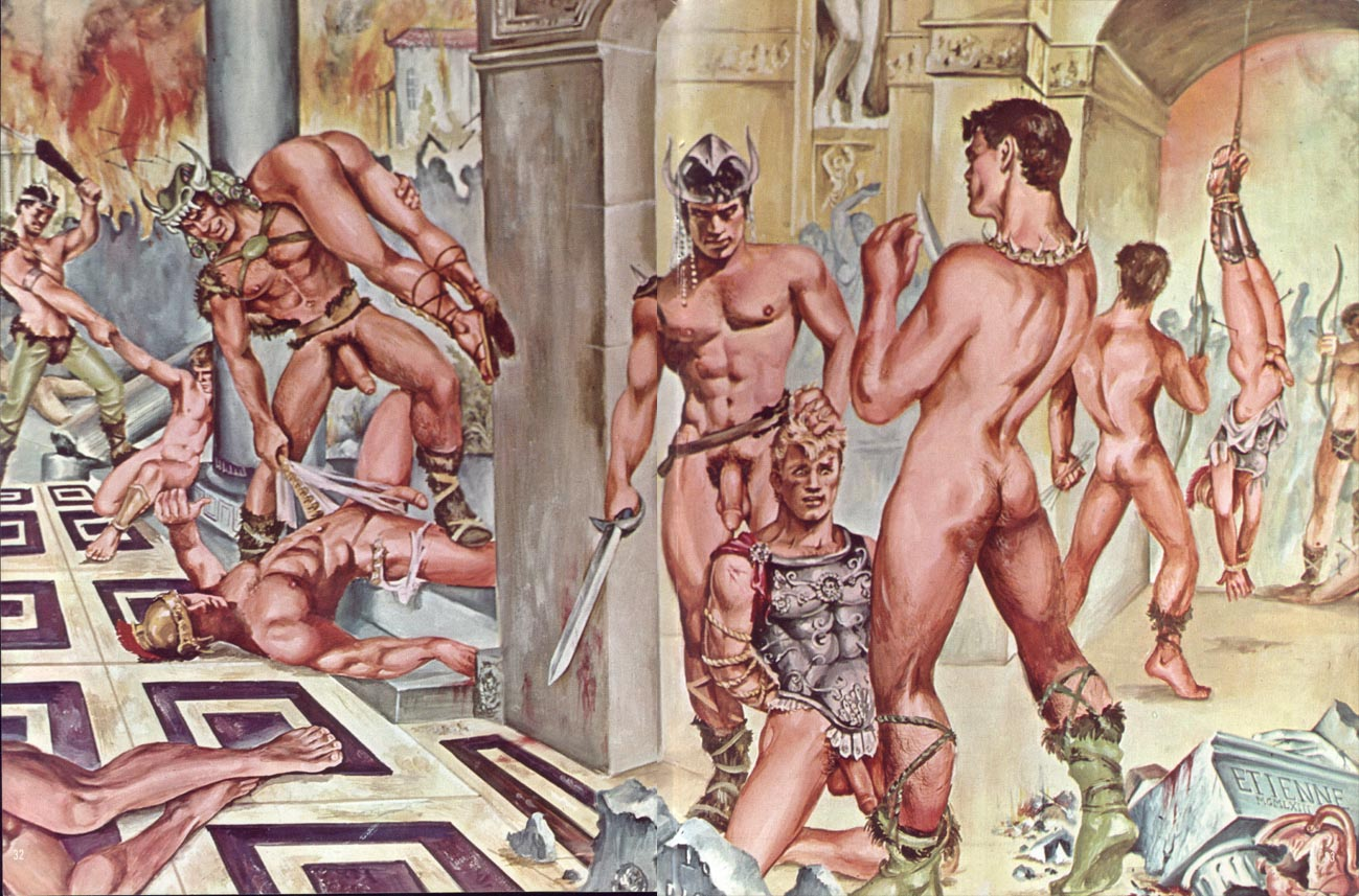Barbarian gay art sexy photos