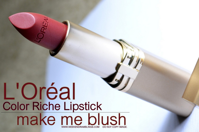 Loreal Color Riche Lipstick Make Me Blush 250 Indian Beauty Blog Reviews Swatches FOTD Makeup Look