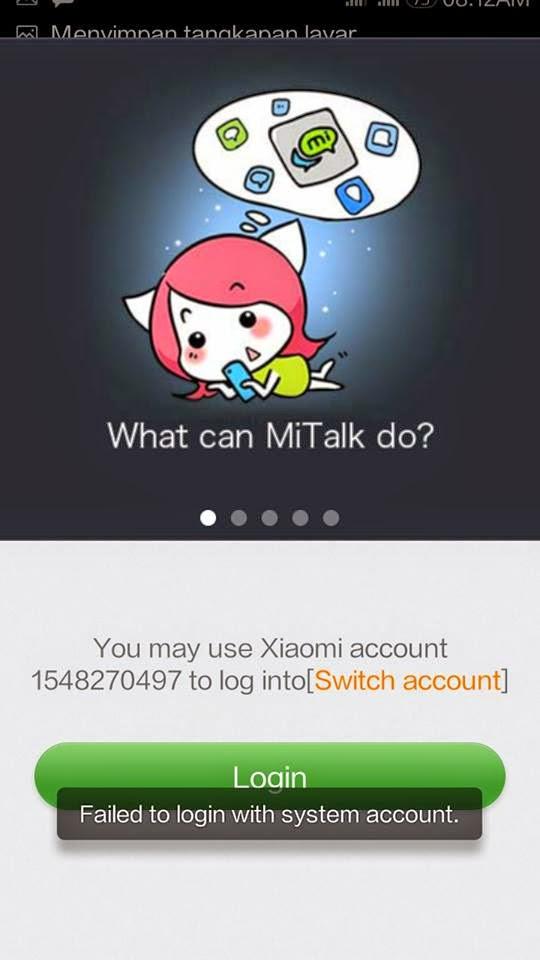 eror xiaomi talk tidak bisa di akses