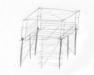 Stelzenhaus aus Baumstämmen bauen planung umsetzung
