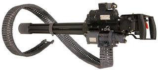 XM196 Minigun - Gatling type machine gun Multi barrel firearm