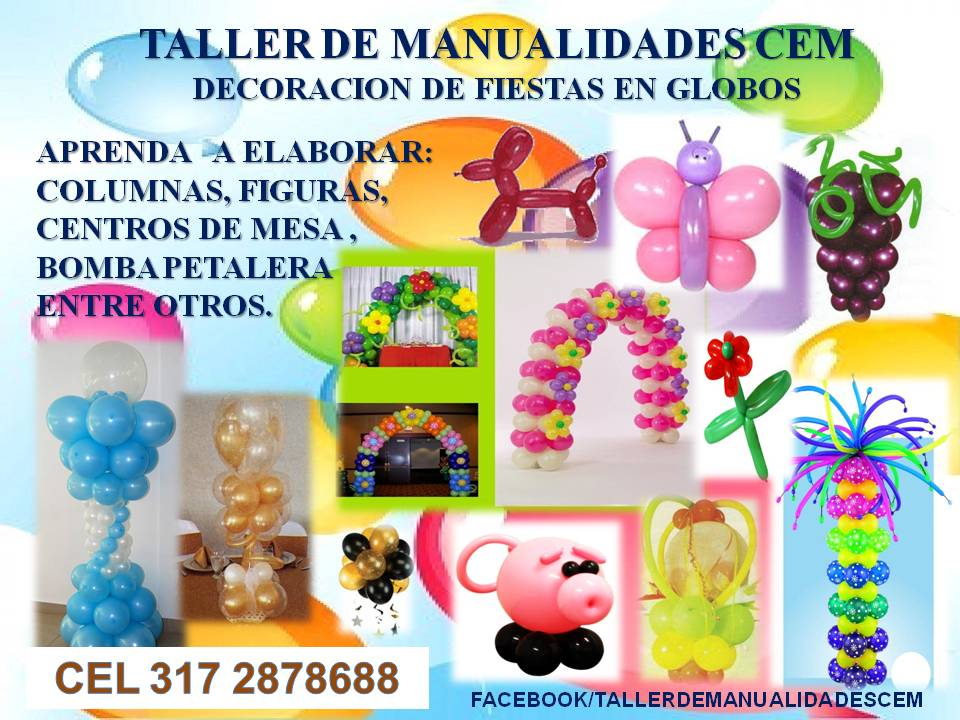 manualidades cem decoracion con globos