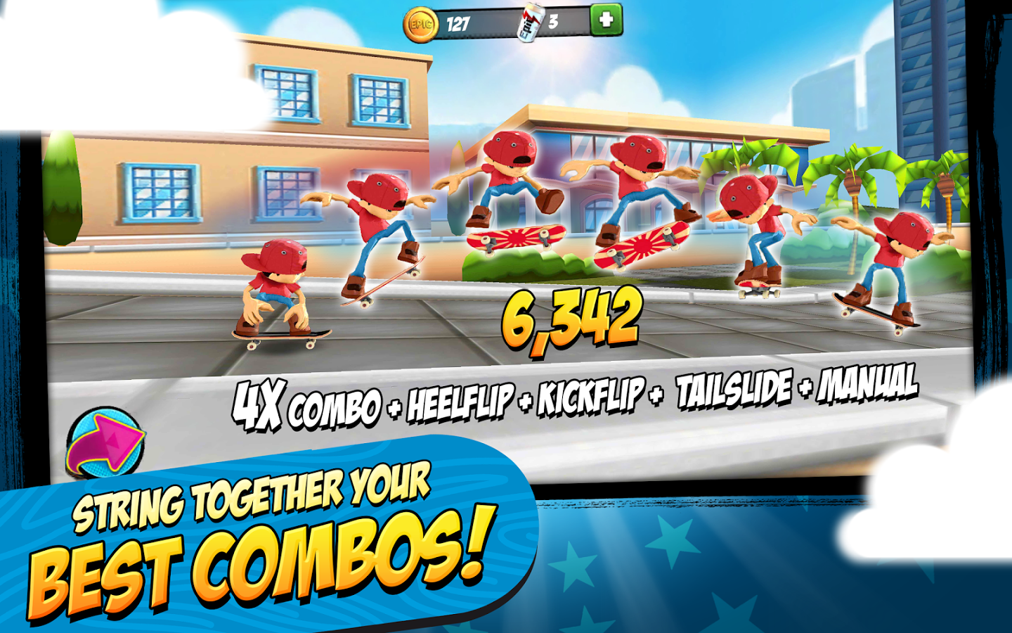 Download Game Epic Skater Apk v1.2.6 Modded Unlimited Coins Soda