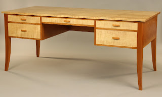 Cherry and Tiger Maple Writing Desk