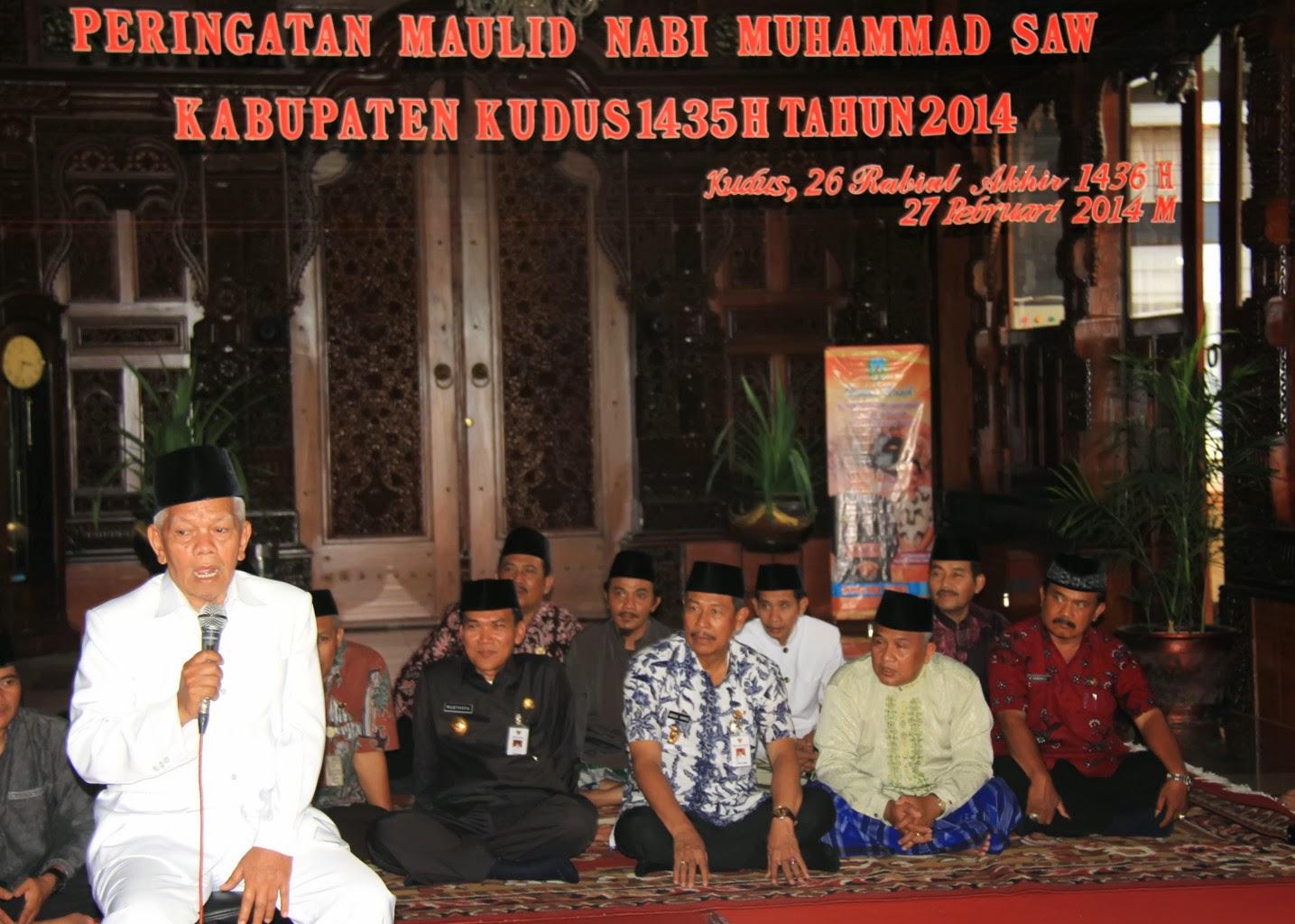 Peringatan Maulid Nabi Muhammad SAW KAbupaten Kudus 1435 H Tahun 2014