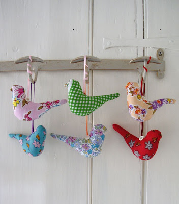 Fabric bird decoration by Red Lilly