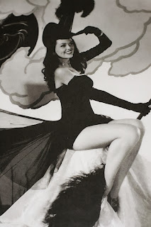 Witch and Her Broom 1950s Pinup Girl