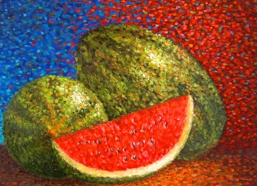 Im genes arte pinturas bodegones puntillismo for Un mural facil de hacer