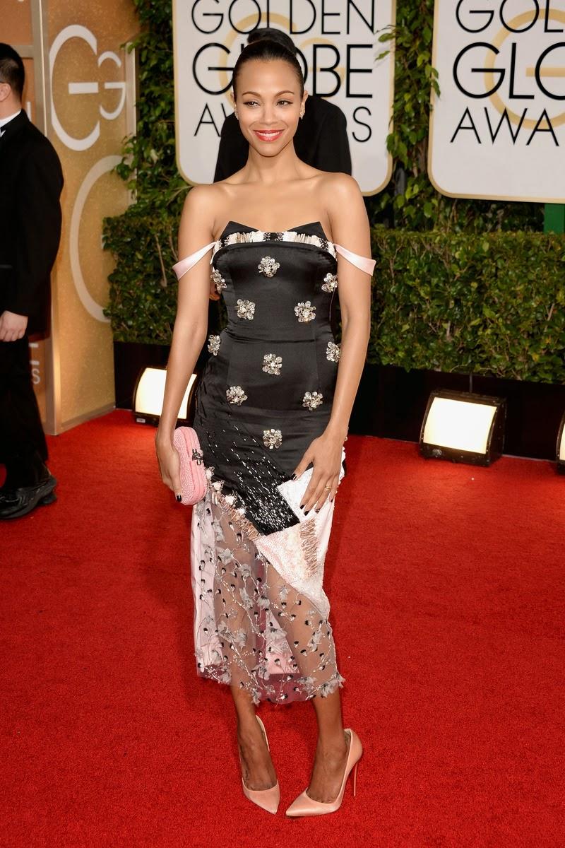 Golden Globe Zoe Saldana