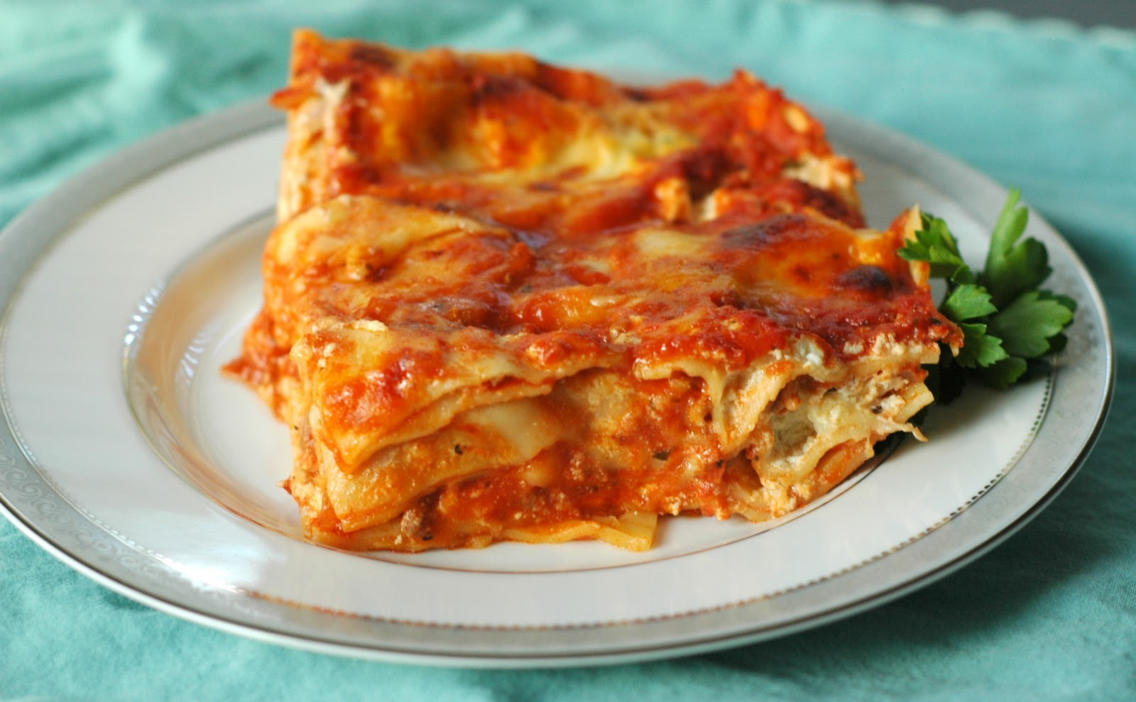 Good Thymes and Good Food: Four Cheese Lasagna