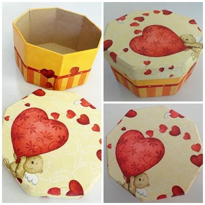 Caja pintada y decoupage recrear manualidades arte - Manualidades pintar caja metal ...