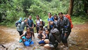One of many water streams, Dudhsagar water falls trekking