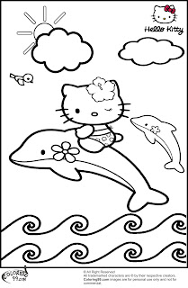 cartoon dolphin coloring pages
