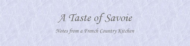 a taste of savoie - recipes