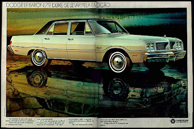 propaganda Dodge Le Baron - 1978. brazilian advertising cars in the 70s; os anos 70; história da década de 70; Brazil in the 70s; propaganda carros anos 70; Oswaldo Hernandez;