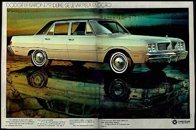 propaganda Dodge Le Baron - 1978. brazilian advertising cars in the 70s; os anos 70; história da década de 70; Brazil in the 70s; propaganda carros anos 70; Oswaldo Hernandez;