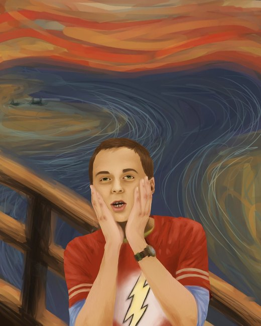 Sheldon Cooper- The scream por CinderellasCorpse