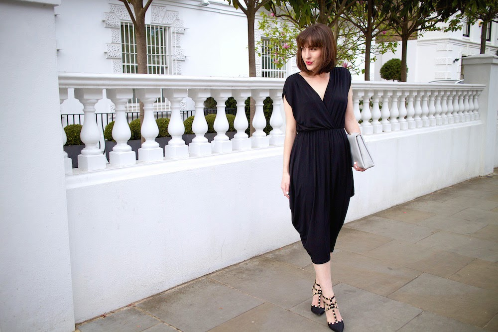 john zack black jersey dress from one65