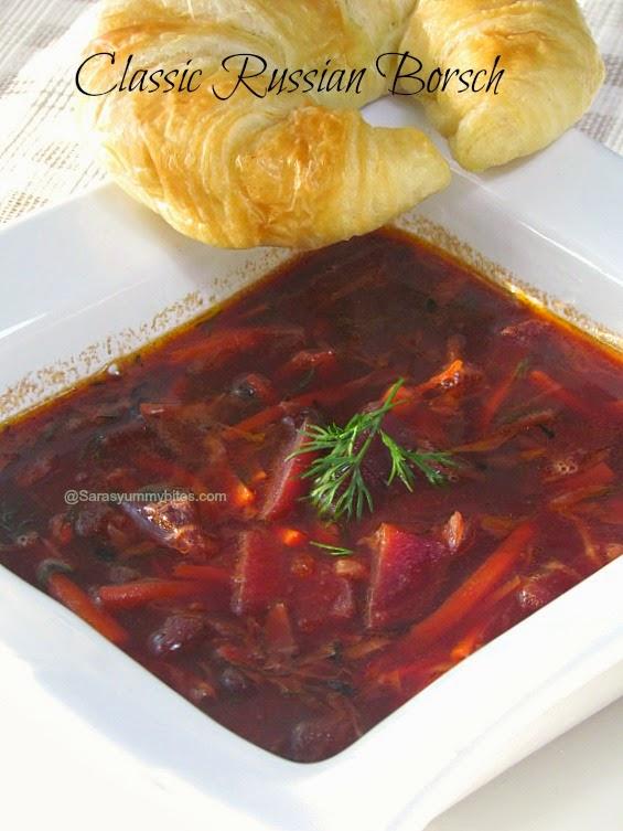 Classic Russian Borsch / Russian Beet Soup