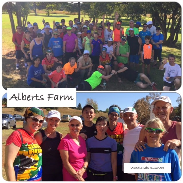 Alberts Farm and Woodlands parkrunners