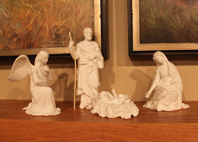 white lenox nativity