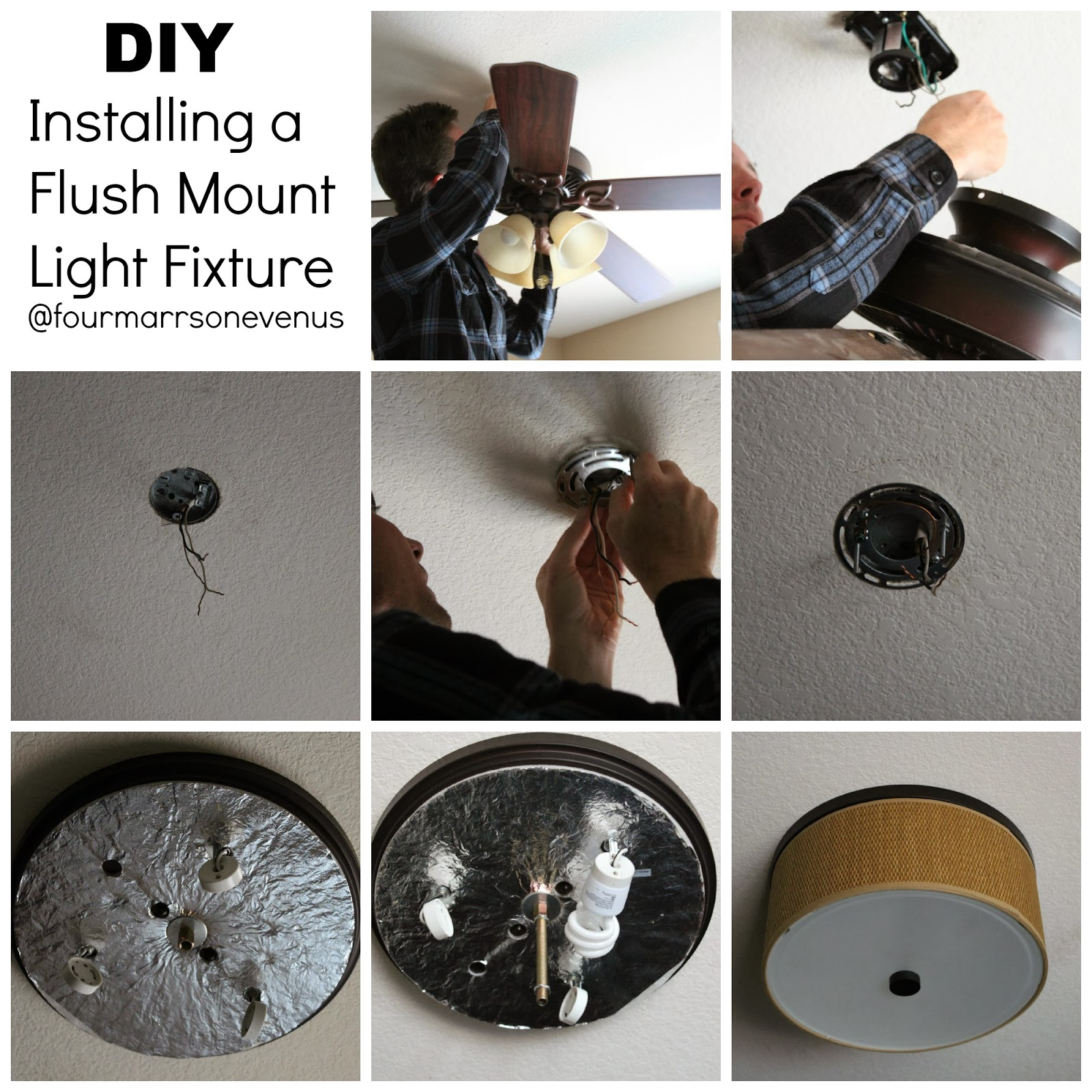 How to install a flush mount light fixture