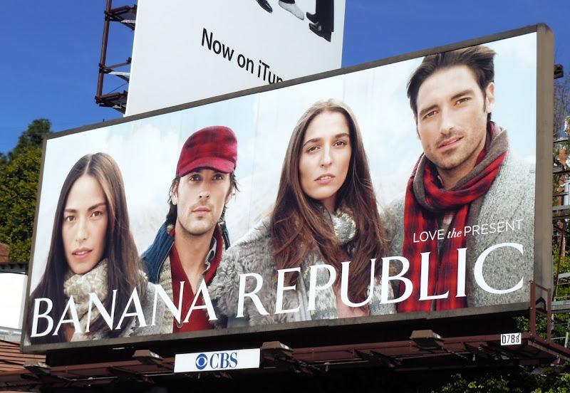 Banana Republic Love Present billboard