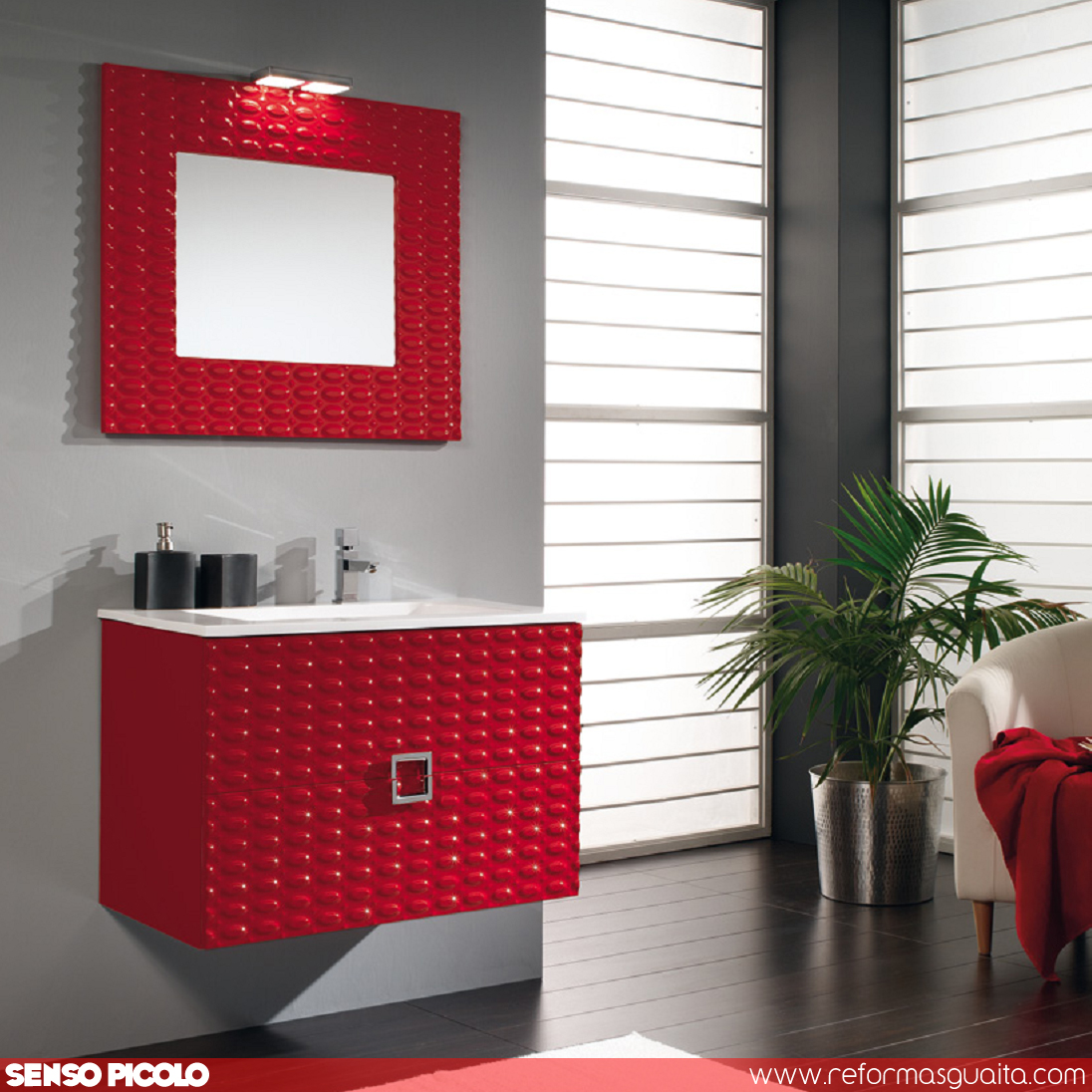 Juegos De Baño Rojos:Consejos para elegir tu mueble de baño ~ Reformas Guaita