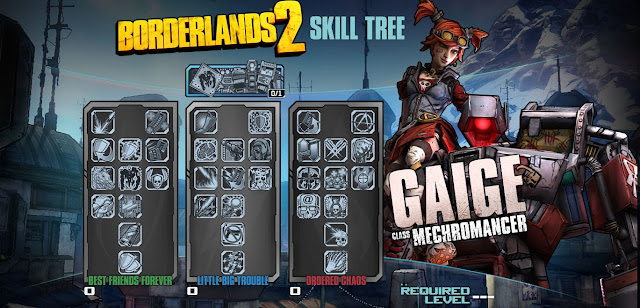 Borderlands 2 Mechromancer Skill Tree