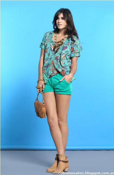 Looks de verano Cardon: Camisa estampada y short moda verano 2014.