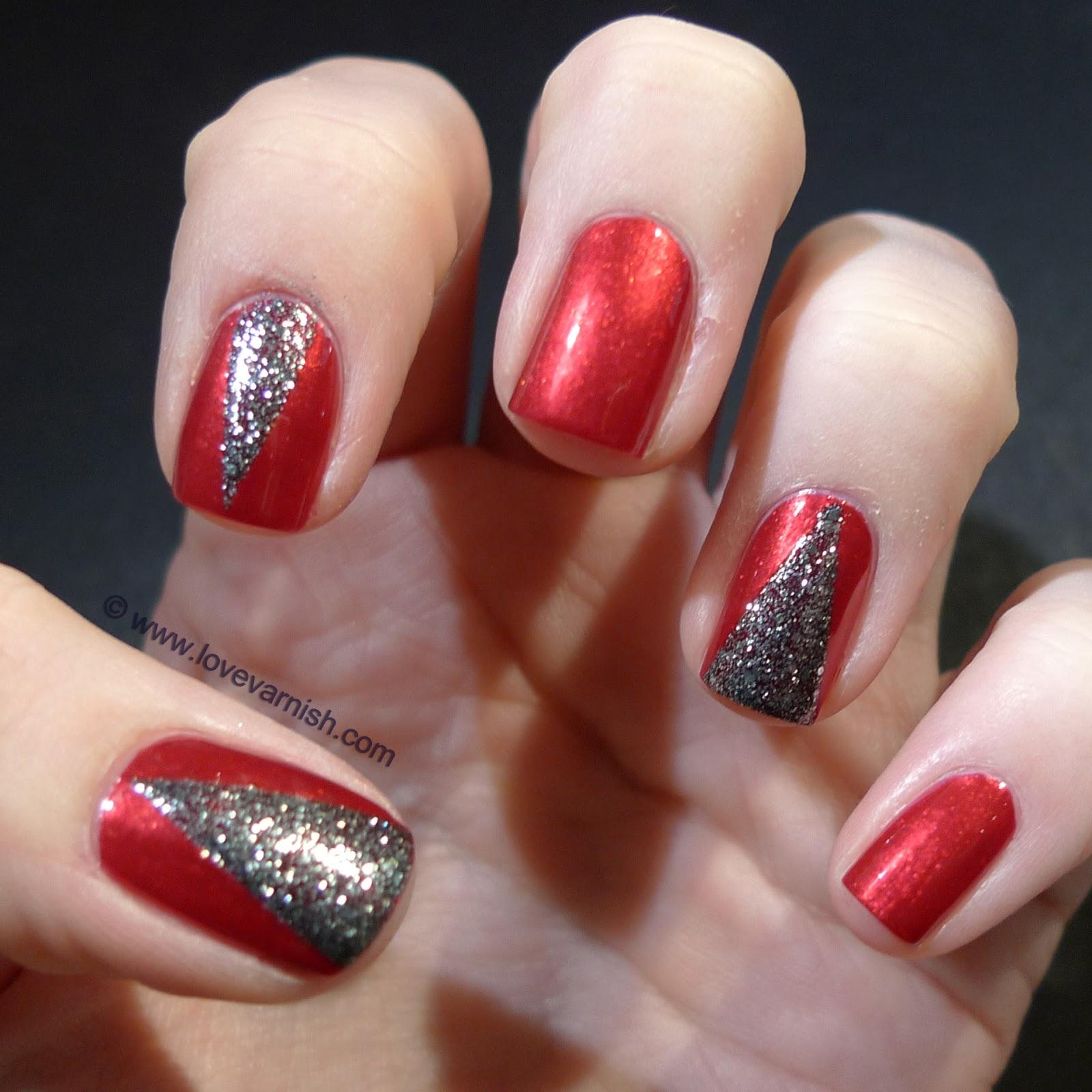 love varnish christmas manicures china glaze cranberry