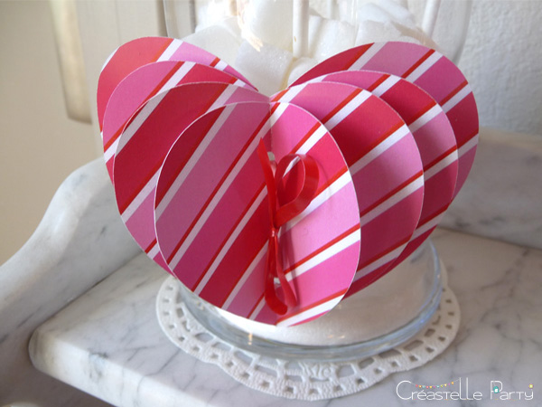 Valentine's day sweet table Saint-Valentin - cœurs 3D hearts