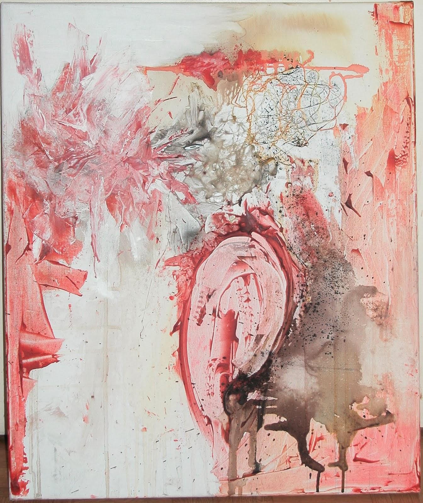 Sans titre - Pigments, colle, ficelle, encre sur toile - 2013