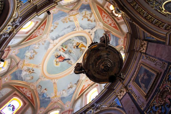 carmelite priory dome ceiling, mdina, malta