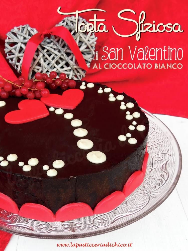 torta sfiziosa di san valentino al cioccolato bianco