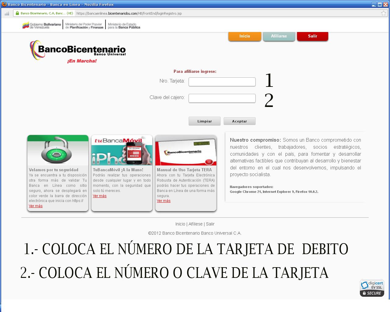 consulta de solicitud tarjeta de credito banco bicentenario