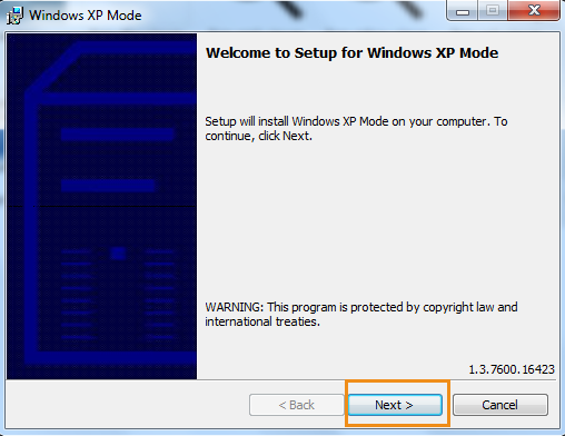 windows 7 mode with virtual pc