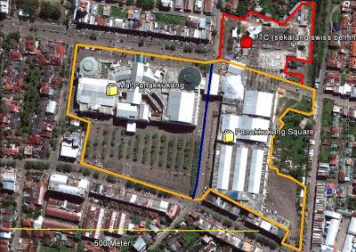 Peta Mall Panakkukang Makassar