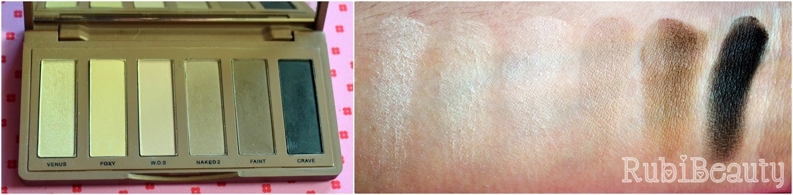 rubibeauty review paleta naked basics urban decay clon buyincoins swatches chuaches