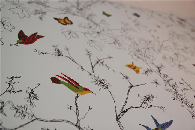 Bromeliad Diy Birds And Butterflies Wallpaper Paper